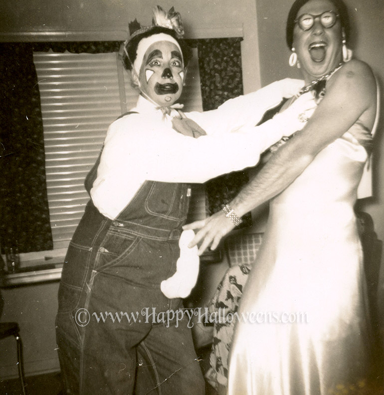 Aroused Clown and Drag Queen 1950s (ish)