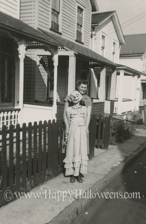 Clown And Mom 1940s ish