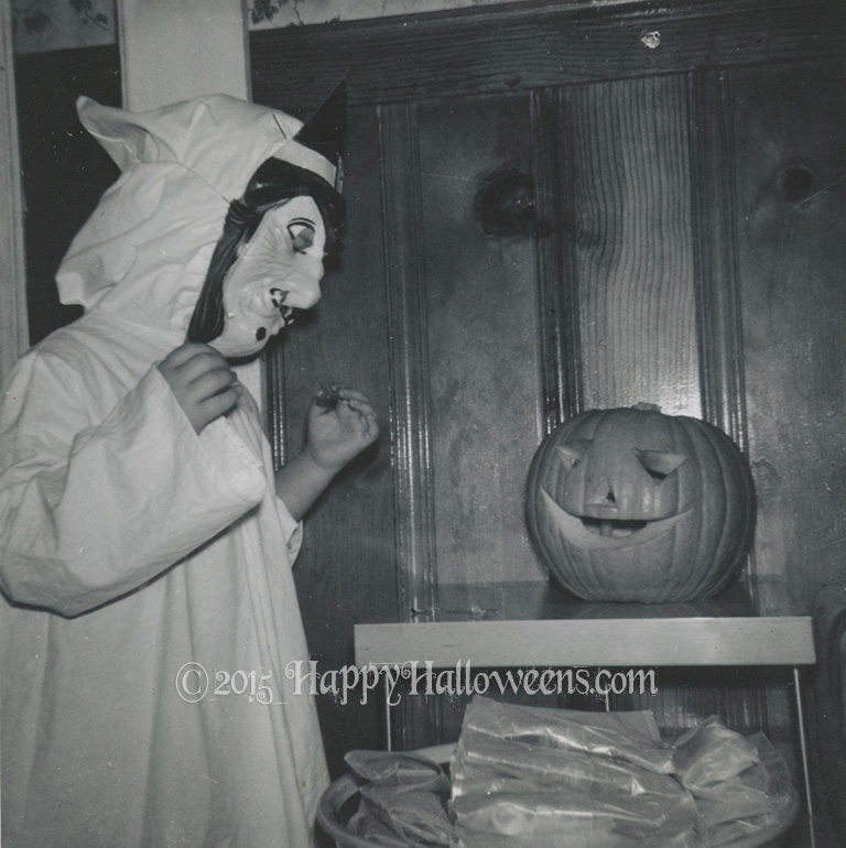 Happy Pumpkin and Witch 1961