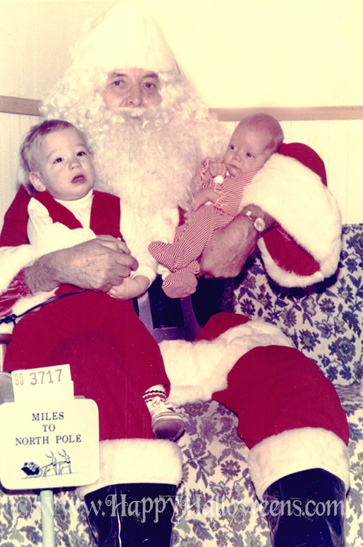 Santa And Crying Babies - 1960s