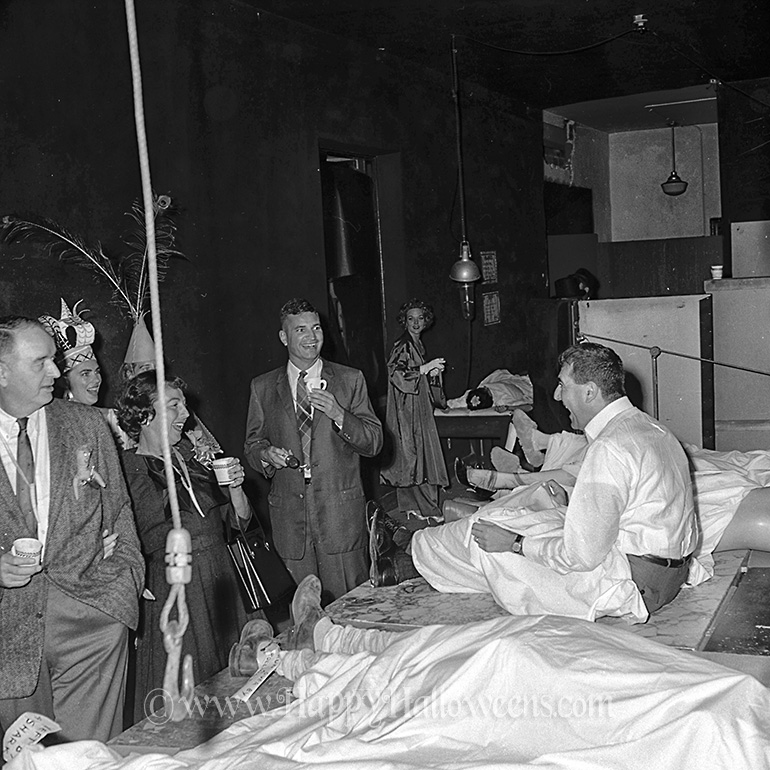 A mortuary scene at the Dracula Party