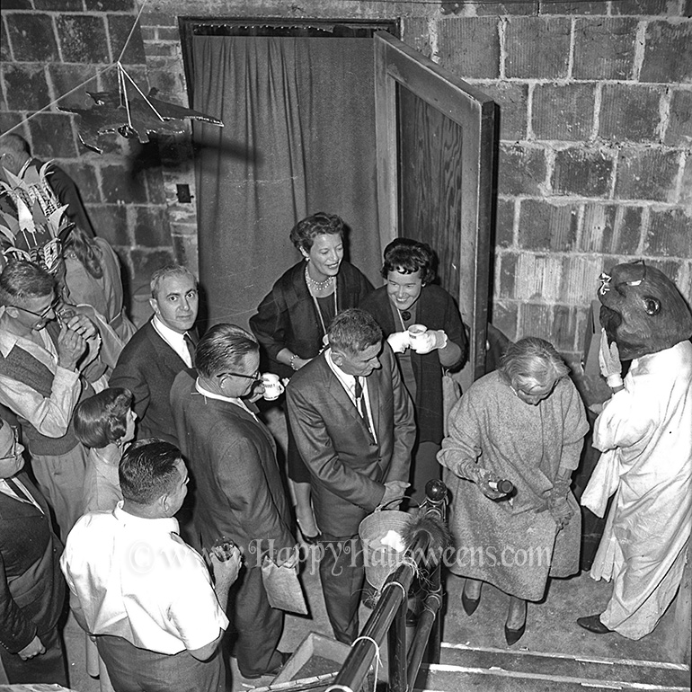 Guests enjoy the spooky atmosphere at the Dracula Party