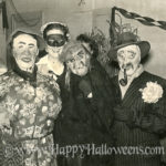 Four Halloween party masks