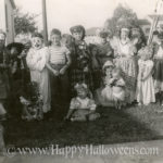 Halloween group with Clown - 1950s