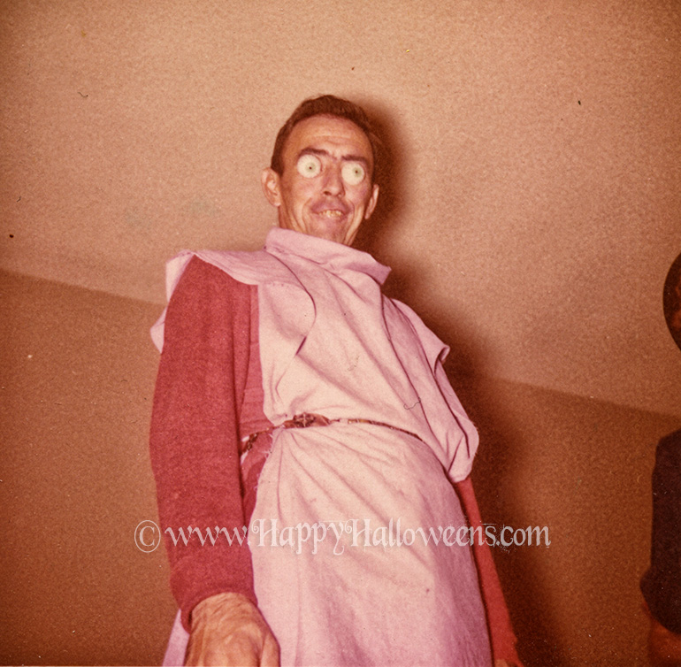 Boggle-eyed man in a dress, 1960s