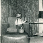 Clown boy and pumpkin 1952