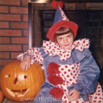 Clown girl and pumpkin, 1960s