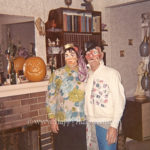 1972 Couple With Mask and Pumpkin