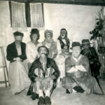 Spooky group of masked adults - 1950s?