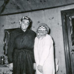 Hobo and curlers couple from 1962