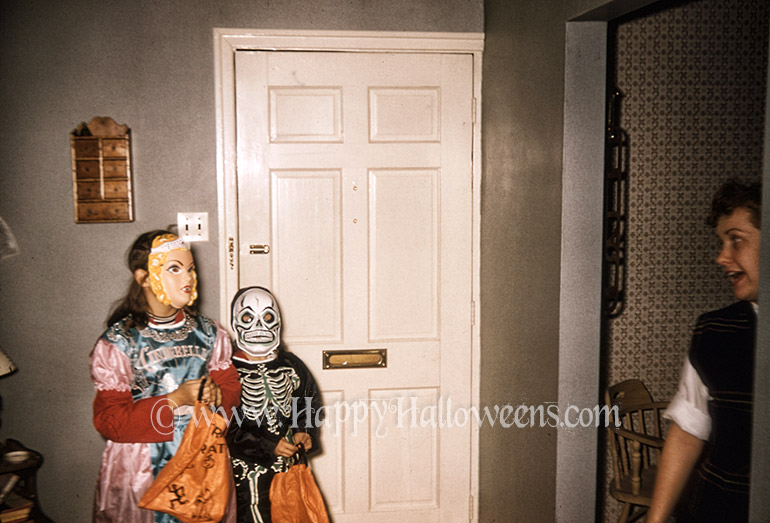 A scary pair about to head off trick or treating