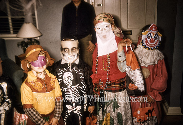 A great collection of vintage masks and costumes