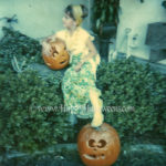 Posing with her pumpkins 1970s